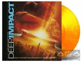 【黑膠唱片LP】彗星撞地球 電影原聲帶 DEEP IMPACT (solid yellow & solid orange mixed)